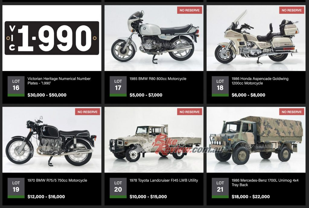 There are many classic cars, motorcycles, Heritage plates and rare memorabilia up for grabs in the Timed Auction!
