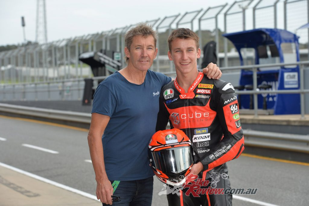 Troy and Oli Bayliss. Oli finoshed 20th overall and is ready for his WSS debut.