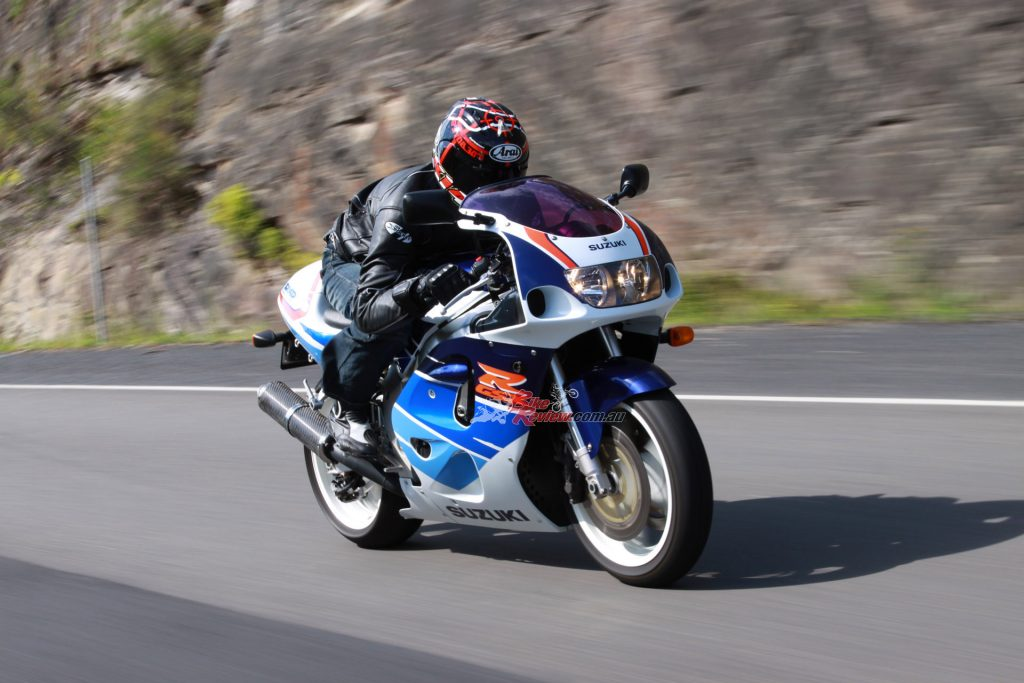 The aerodynamics came from experience with the RGV500 GP bikes.