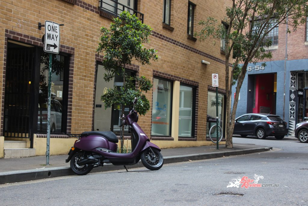 Fonzarelli's Arthur 3, shown in a Royal Aubergine finish, was the perfect way to get around the city and be green too!