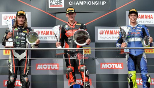 Bayliss wins final Supersport race from Toparis and Edwards