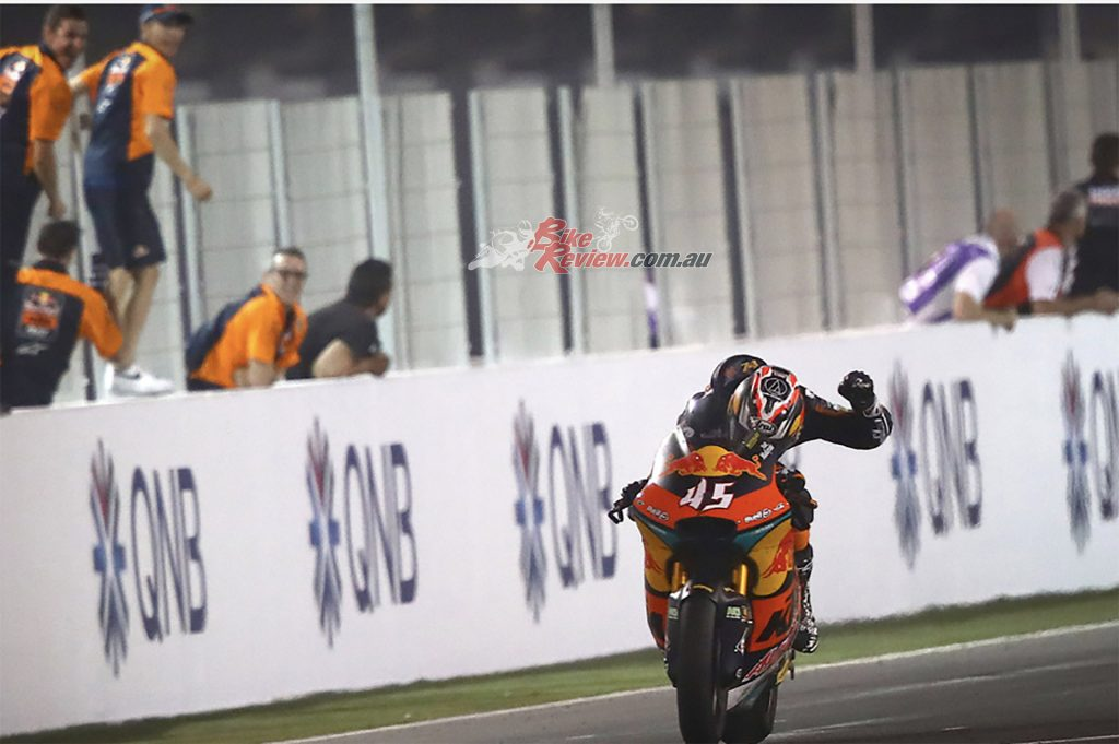 In March, Tetsuta Nagashima (Red Bull KTM Ajo) took an incredibly popular win under the floodlights of Qatar.