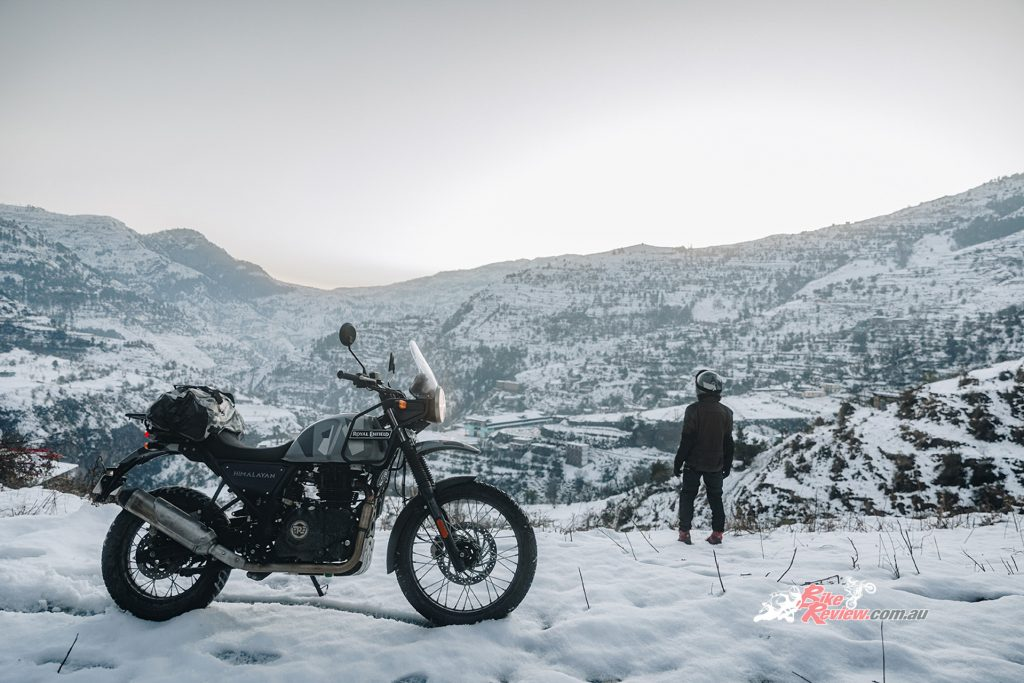The Royal Enfield Himalayan for 2020 will be available in six colours, shown here in Sleet.