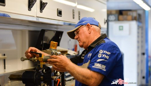Yamaha Racing technicians up close and personal…