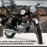 Free Panniers and Mounting Kit with a Classic 350 Purchase