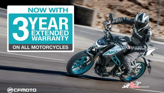 CFMOTO Aus announces Three Year Extended Warranty