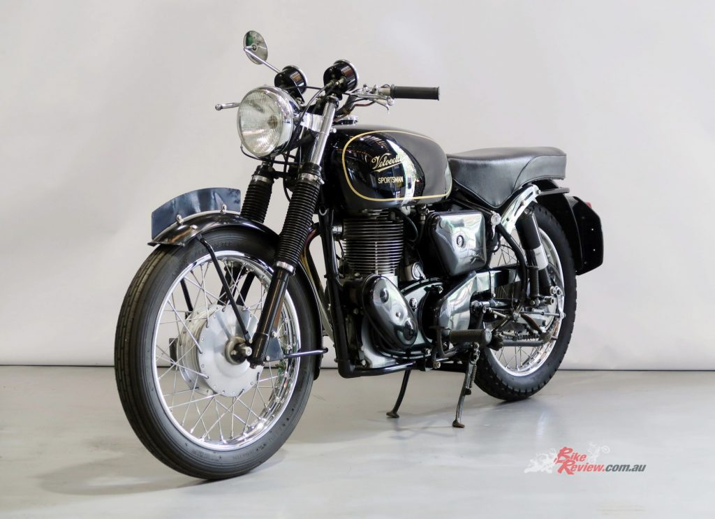 With particular appeal to many sporting motorcycle enthusiasts, is a beautiful Velocette Sportsman 500cc solo.