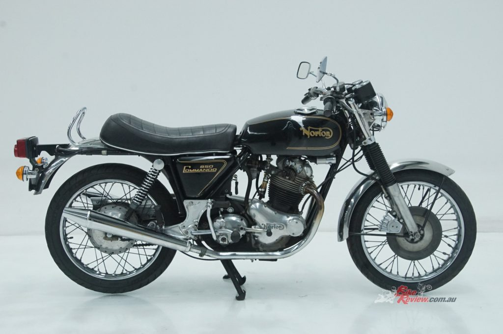 For the serious British motorcycle aficionado, there is a fully-restored 1974 Norton Commando 850 MkIIA.