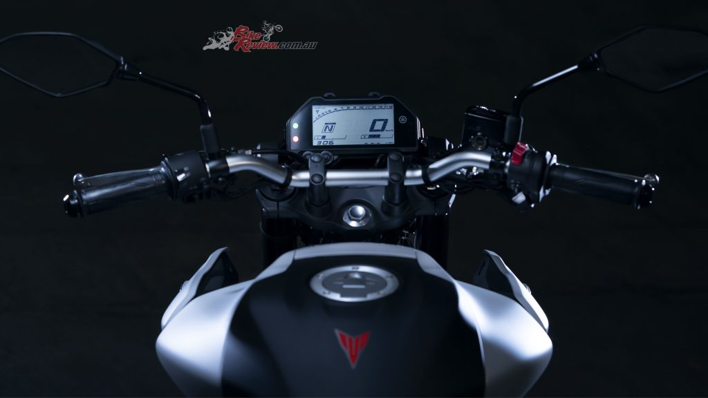 The LCD dash is feature-packed with all the information a rider might find useful.