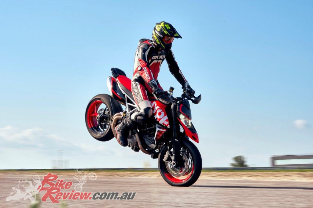 The Ducati Hypermotard 950 RVE will come will an extensive electronics package.