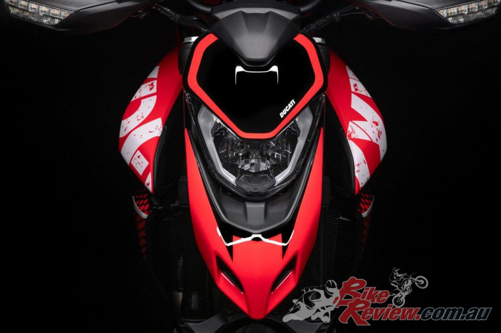 The Hypermotard 950 RVE will be available in Australia in very limited numbers and will arrive in September 2020.