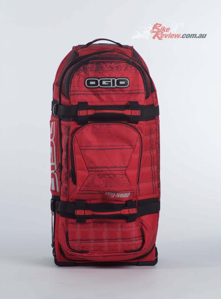 The OGIO Rig 9800 'Red Noise' is available for $389.95RRP from Cassons.