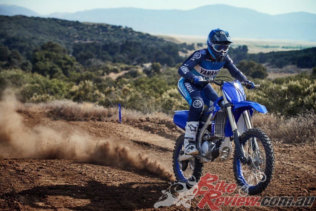 The full range dirt bike range includes Yamaha's track weapon, the 2021 YZ250F.