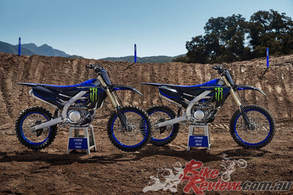 The 2021 YZ250F and 2021 YZ450F now come in a new Monster Energy Yamaha Racing Editions.