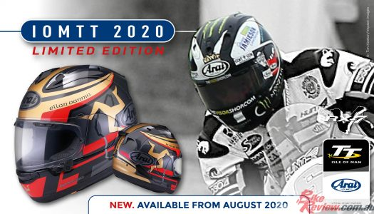 Arai reveals 2020 IoM TT Limited Edition RX-7V Lid