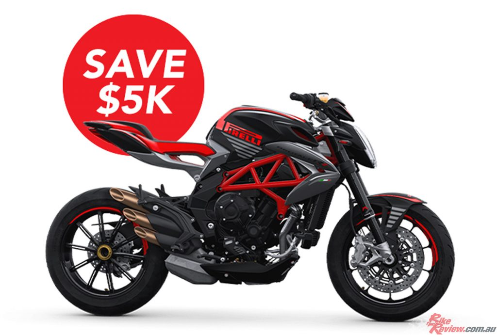 The last few remaining Brutale 800 RR Pirelli's are available for immediate delivery, with $5,000 in savings!