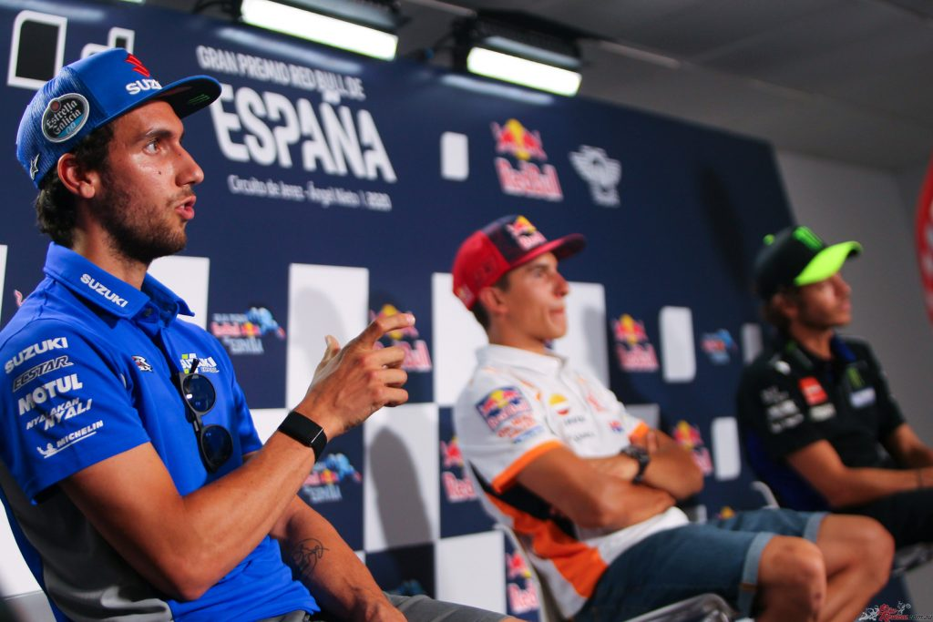 Another of the headliner grabbers in testing was Alex Rins and Suzuki, with teammate Joan Mir also looking quick.