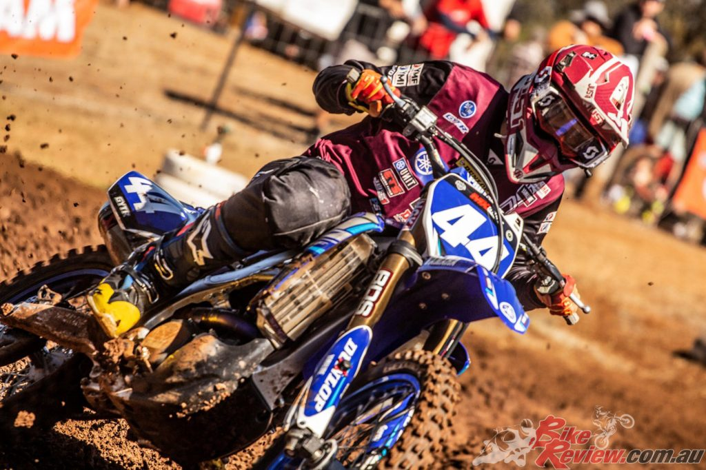 Levi Rogers had his first race in seniors and dominated the MX2 Expert class with three emphatic victories.