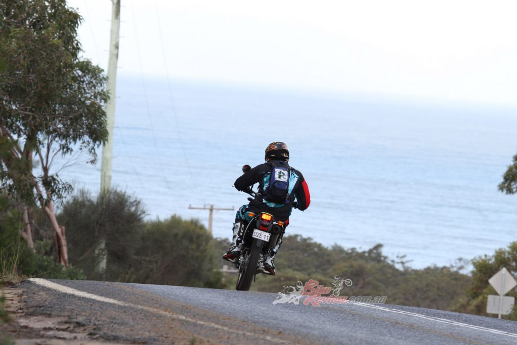 Jack was eager to swing his leg back over a dirt bike after an eight year hiatus...