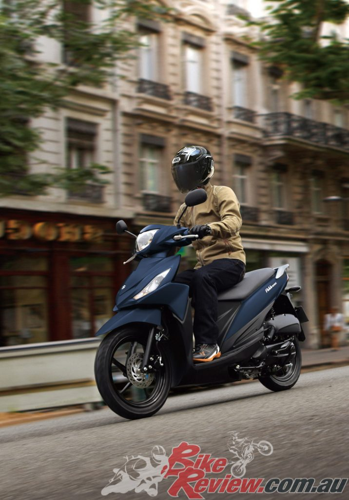 The MY20 Suzuki Address 110 scooter is available now from $3,590RRP Ride Away with 12 months registration