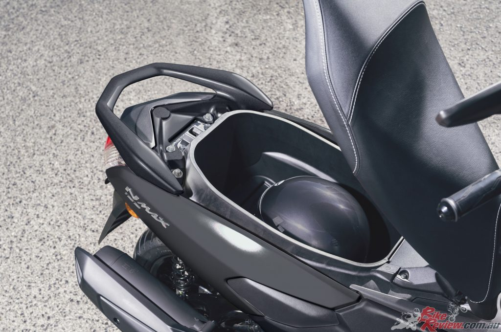 Yamaha says the NMAX 155 - while being small on the outside - the interior surprisingly spacious...