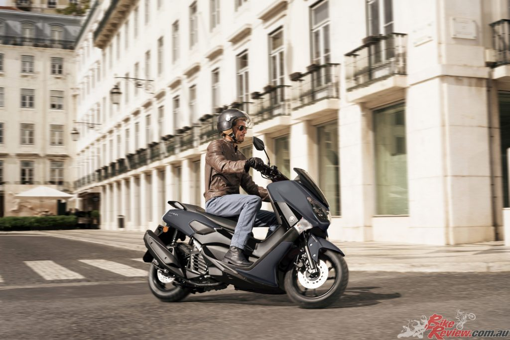 The scooter is equipped with a claimed immensely strong and lightweight tubular frame that delivers a sporty ride