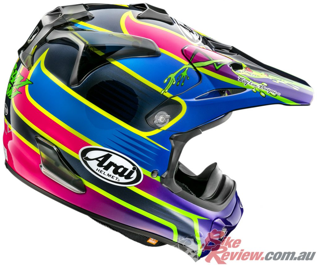 Arai VX-Pro4 in Barcia Frog graphic.