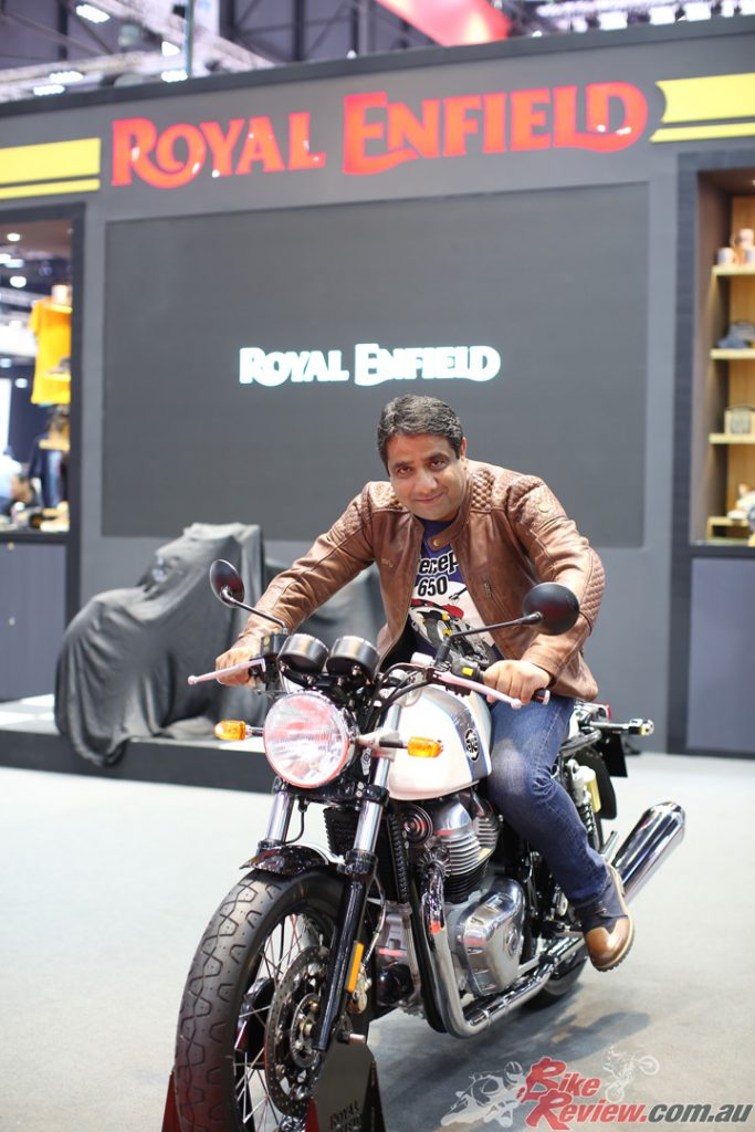 """""""The Interceptor 650 marked the beginning of a new chapter..."""" Vinod K. Dasari, CEO Royal Enfield."""