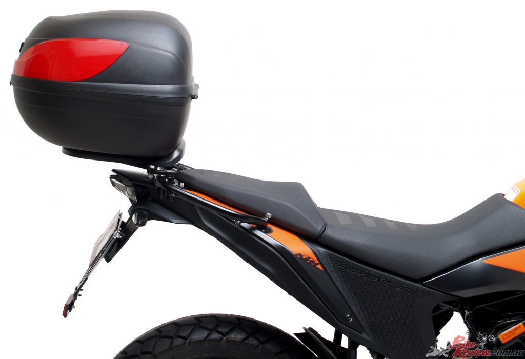 2020 KTM 390 Adventure fitted with 32L Astro Top Box