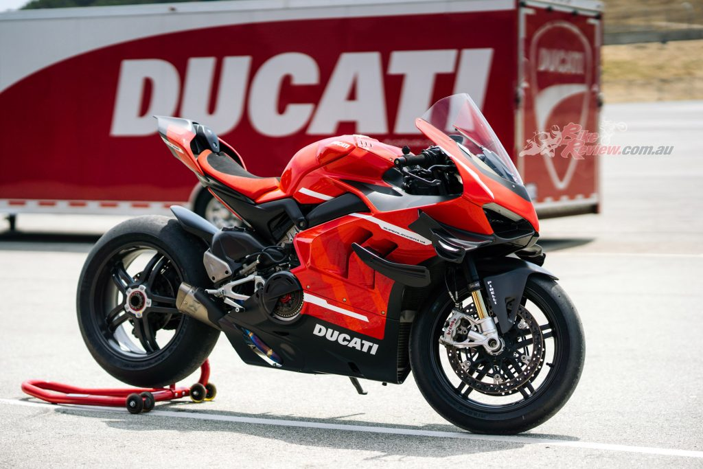 Brakes come in the form of the twin 330mm Brembo rotors and Brembo Stylema R four-piston radially-mounted calipers
