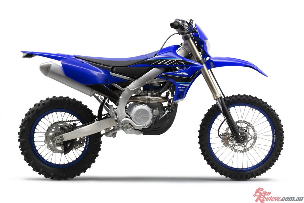 Both WR450F and WR250F feature the new-look Team Yamaha Blue colour scheme and graphics for 2021.