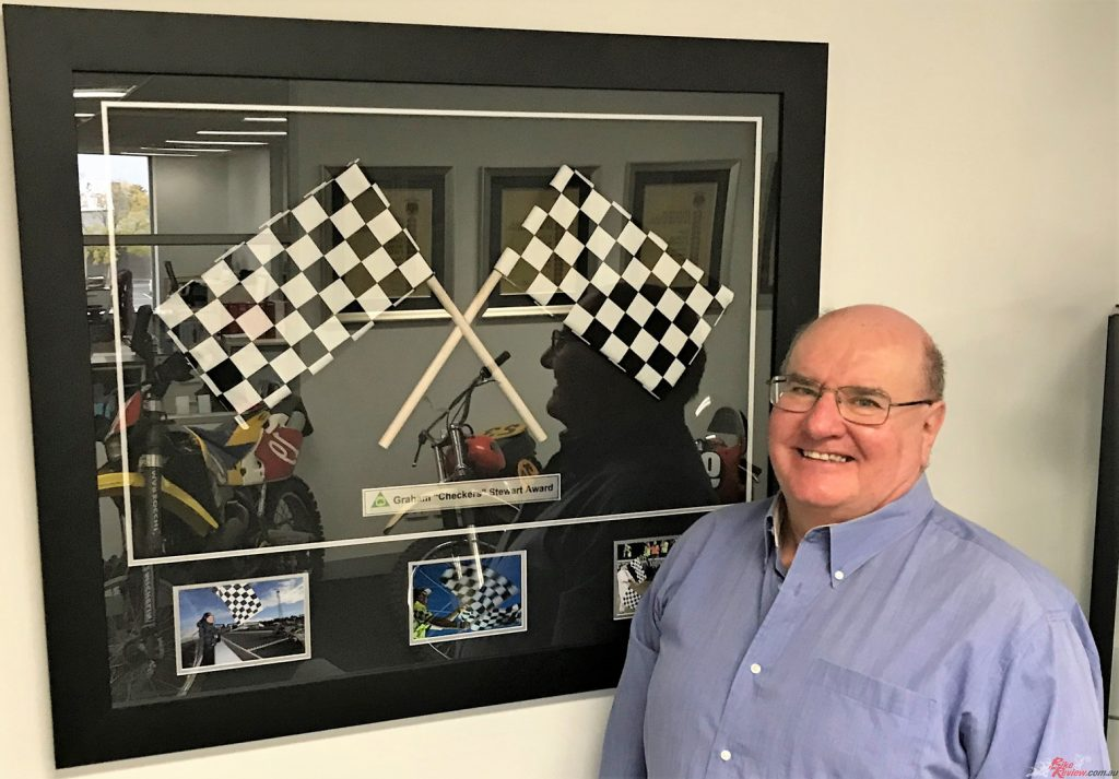 "Brendan with his Graham ""Checkers"" Stewart Official of Year Award which he won in 2019."