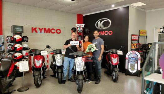 KYMCO celebrates 35,000 vehicle sales in Australia!