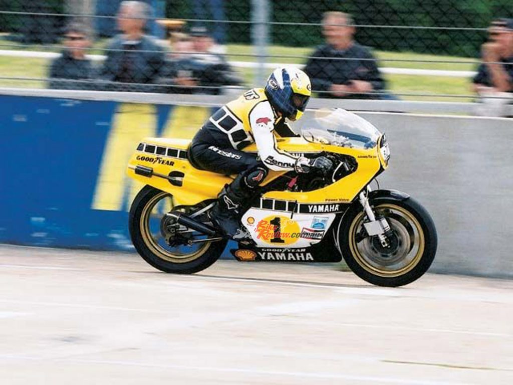 Kenny Roberts reunited with the OW48R at Montlhery.