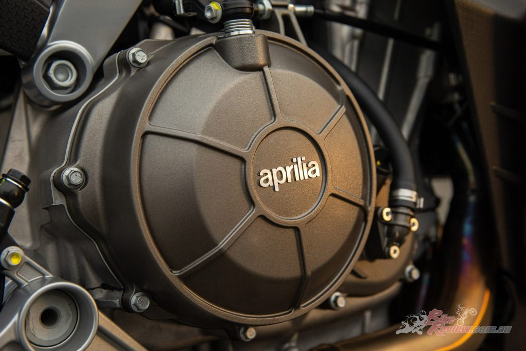 The 57kg parallel-twin motor is the first middleweight V-twin (under 750cc) created by Aprilia since the powerful and plainly scary SXV450 and 550 twins.