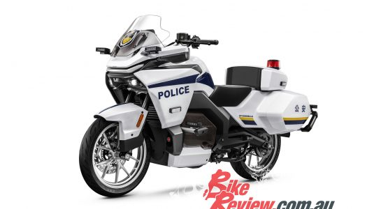 CFMOTO builds 120km/h, 150km range electric 300GT-E police bike
