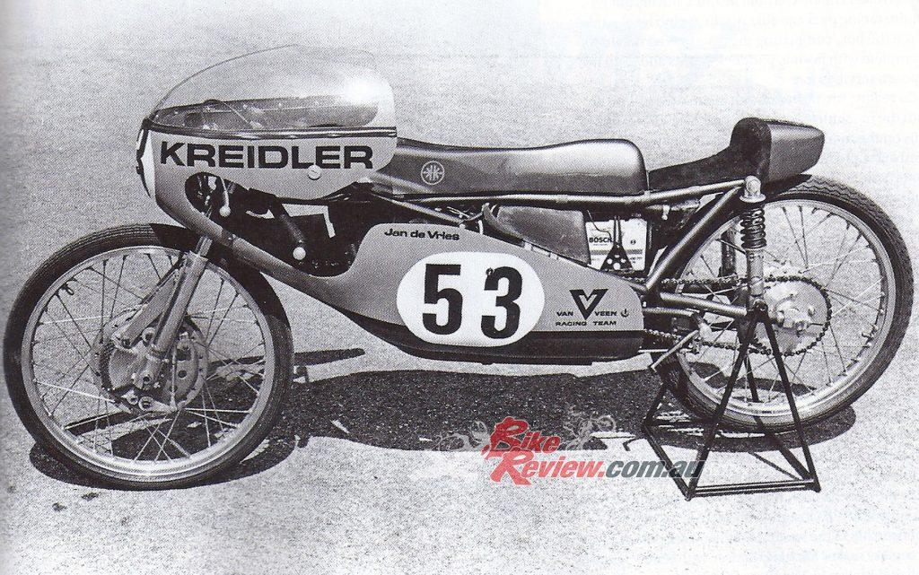 An original shot of Jan de Vries Van Veen Kreidler racer.