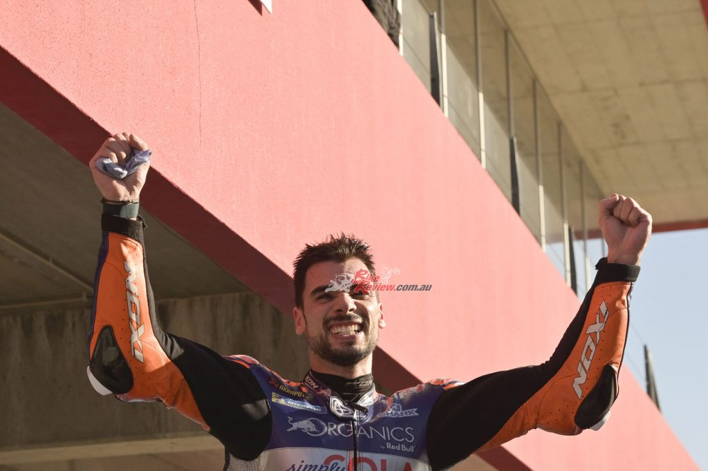 Oliveira got the dream start and into Turn 1, it was Portugal's superstar who led the way
