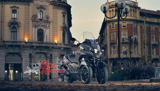 The all new 2020 Yamaha Tricity 300 three-wheeler on sale now