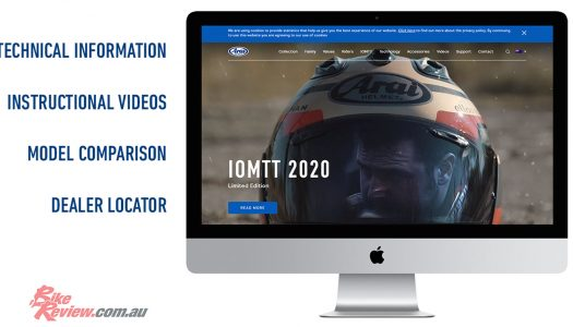 Arai website: Check out all their latest helmet technology