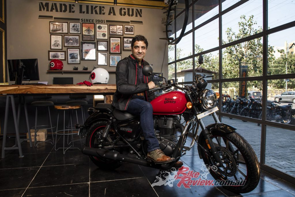 Head of International Business, APAC region, Vimal Sumbly, on the all-new Royal Enfield Meteor 350, due here next month.