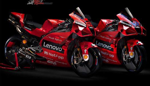 New liveries for the Ducati Lenovo MotoGP team