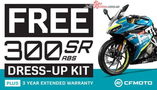 Bling Your Ride! Awesome CFMOTO 300SR Added Value Promo!