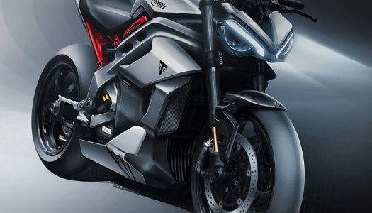 Motorcycle Concept: Project Triumph TE-1 underway