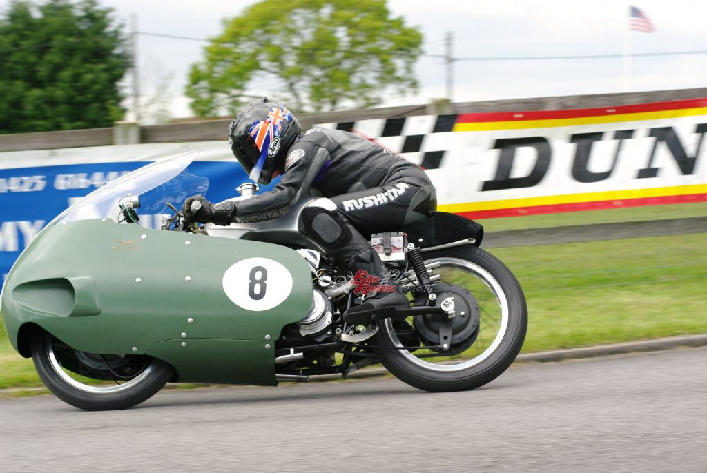 """""""There's a long reach forward over the unpainted aluminium fuel tank with its big Monza filler cap on the left, to the very flat-set clip-on handlebars""""."""