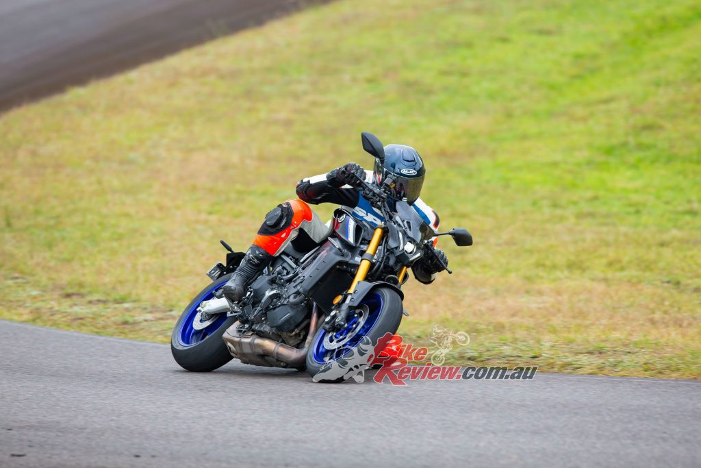 The throttle is much smoother on initial opening but still has a small amount of snatch, however, it can be opened smoothly even at full lean, without upsetting the rear tyre.