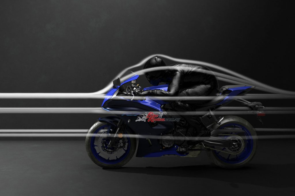 The 2022 Yamaha YZF-R7 has a race inspired riding position and cockpit.