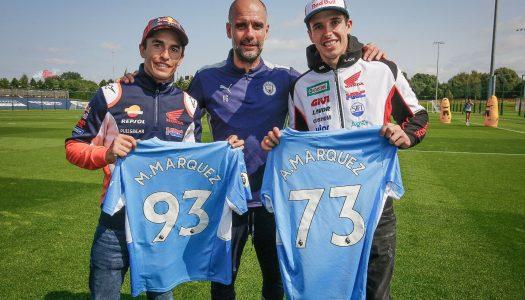 MotoGP & Manchester City: Marc Marquez meets Pep Guardiola